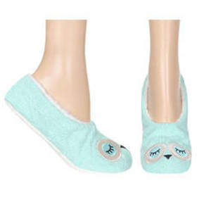 Womens Capelli Sleepy Owl Slipper Socks