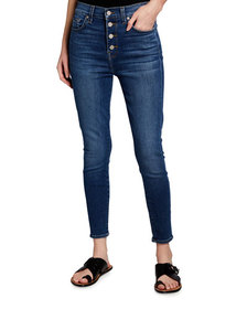 7 For All Mankind Gwenevere Ankle Jeans w/ Exposed