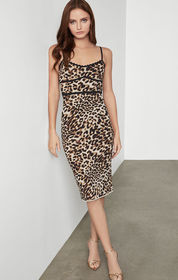 BCBG Leopard Cocktail Dress