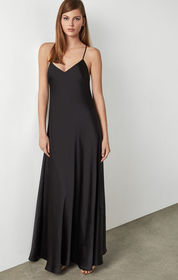 BCBG Open Back Satin Dress