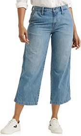 Lucky Brand Mid-Rise Crop Wide Leg Jeans in Garfor