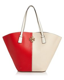 Tory Burch - McGraw Color-Block Leather Extra Larg