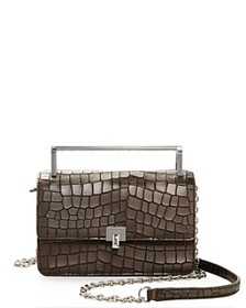 Botkier - Lennox Small Croc-Embossed Leather Cross