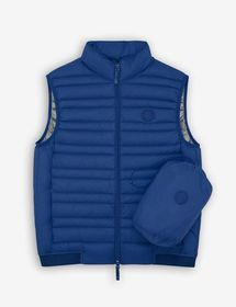 Armani VEST WITH REAL FEATHER PADDING