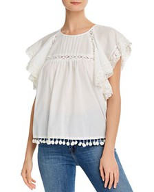 FRENCH CONNECTION - Cadenza Lace-Trim Blouse