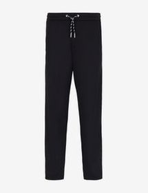 Armani LOGO TAPE ATHLETIC-STYLE TROUSERS