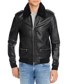 7 For All Mankind - Pebbled-Leather Slim Fit Jacke