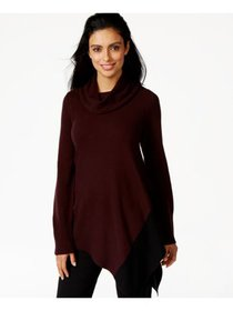 ALFANI Womens Burgundy Sweater Petites Size: XL