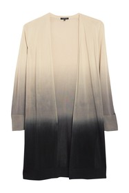 Lafayette 148 New York Dip Dyed Open Front Cardiga