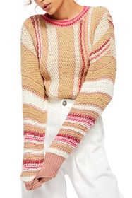 Free People Show Me Love Striped Pullover Sweater