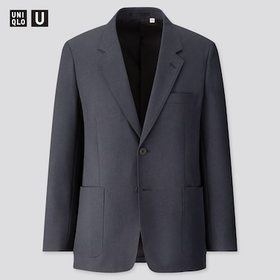 Men U Tailored Jacket, Navy, Medium