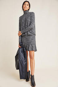 Anthropologie Greta Mock-Neck Dress