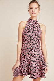 Anthropologie ML Monique Lhuillier Rita Ruffled Mi