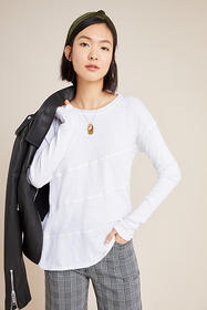 Anthropologie Paula Seamed Asymmetrical Tee