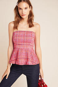 Anthropologie Shannon Peplum Cropped Top
