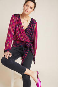 Anthropologie Lisa Puff-Sleeved Blouse