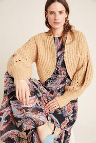 Anthropologie Rae Cropped Cardigan