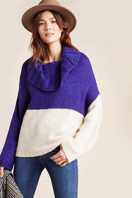 Anthropologie Fonda Colorblocked Sweater