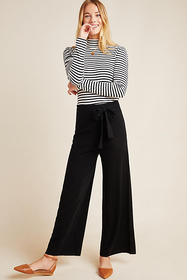 Anthropologie Linette Cropped Knit Pants