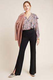 Anthropologie Adina Bootcut Ponte Trousers