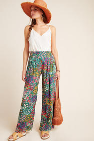 Anthropologie Cabo Pleated Wide-Leg Pants