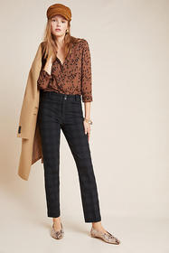 Anthropologie The Essential Slim Jacquard Trousers