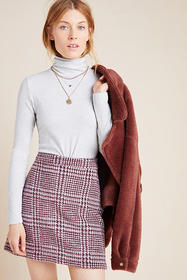 Anthropologie Gregoria Textured Mini Skirt