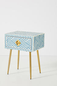 Anthropologie Optical Inlay Nightstand