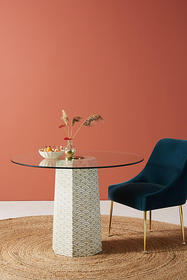 Anthropologie Scalloped Inlay Dining Table