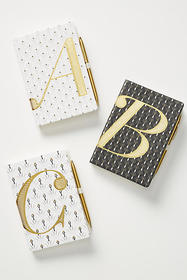 Anthropologie Adelaide Monogram Journal