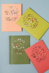 Anthropologie Gardenia Monogram Journal