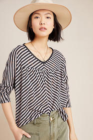 Anthropologie Pilar V-Neck Top