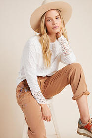 Anthropologie Lorna Eyelet Top