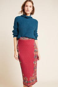 Anthropologie Farm Rio Catalina Knit Pencil Skirt