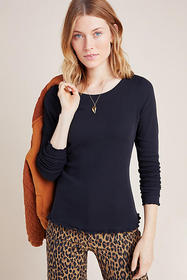 Anthropologie Julia Ribbed Top