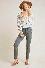 Anthropologie Paige Hoxton High-Rise Cargo Skinny