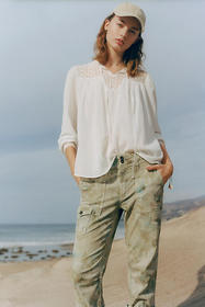 Anthropologie Mollie Lace Blouse