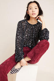 Anthropologie Cloth & Stone Balloon-Sleeved Blouse