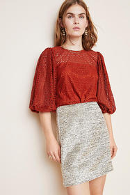 Anthropologie Sienna Eyelet Top