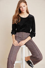 Anthropologie Nadia Burnout Velvet Top