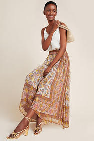 Anthropologie Harvest Midi Skirt
