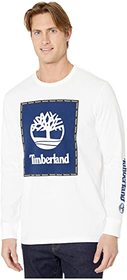 Timberland Long Sleeve Box Logo Graphic Tee