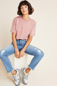 Anthropologie Relaxed Mock Neck Top