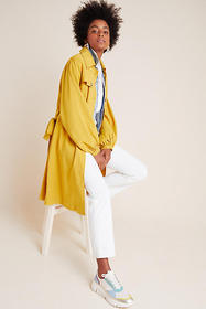 Anthropologie Bristol Puff-Sleeved Trench Coat