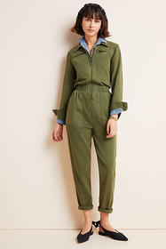 Anthropologie Victor Twill Utility Jumpsuit