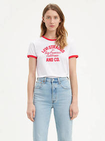 Levi's Graphic Ringer Surf Tee Shirt