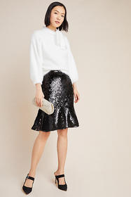 Anthropologie Esme Sequined Skirt