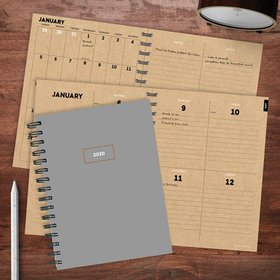 2020 Classic Grey Medium Weekly Monthly Planner