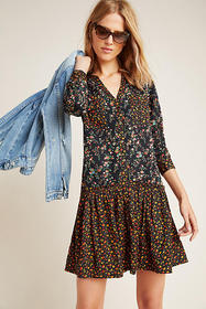 Anthropologie Marlie Button-Front Tunic