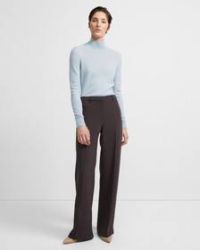 Wide Trouser in Crepe